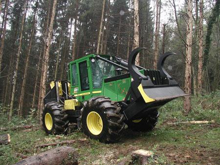 tracteur forestier john deere 540